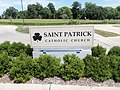 Saint Patrick Church sign - Iowa City.JPG