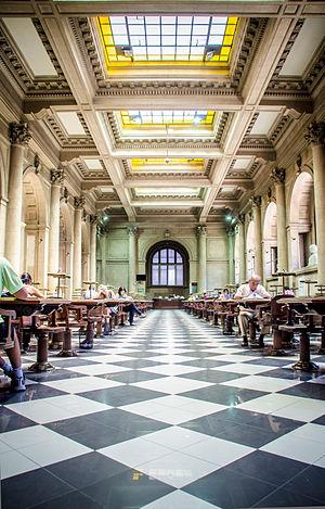Biblioteca Nacional de Chile - Chilean Hallroom (Sección Chilena) of the Biblioteca Nacional de Chile