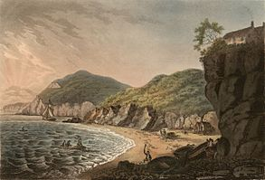 Salmon fishery: A view from the rocks of Aberistwith and the bay