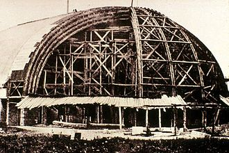 Salt Lake Tabernacle - The Tabernacle under construction