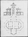 Samuel F. B. Morse House, Poughkeepsie, New York (perspective and plan) MET MM88081.jpg