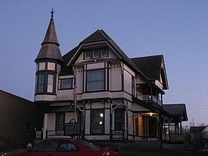 Brookville, Ohio - The Samuel Spitler House, a historic landmark in the city
