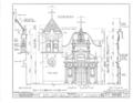 San Carlos Presidio Church, 550 Church Street, Monterey, Monterey County, CA HABS CAL,27-MONT,1- (sheet 8 of 28).png