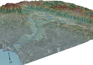 San Francisquito Creek - 3-D Map of San Francisquito Creek Watershed