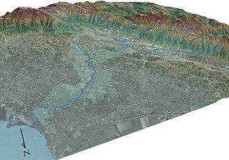San Francisquito Creek - 3-D Map of San Francisquito Creek Watershed