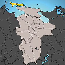 Location of Old San Juan shown in yellow