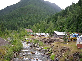 Sandon, British Columbia - view of Carpenter Creek and Sandon