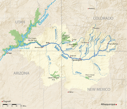 San Juan River Map San Juan River (Colorado River tributary)   Wikipedia