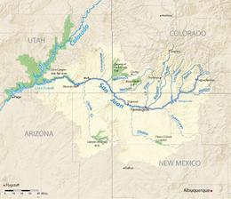 San Juan River Utah Map.San Juan River Colorado River Tributary Wikipedia