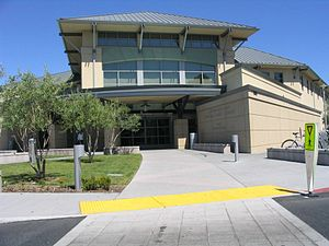 The Central Park Library in Santa Clara, Calif...