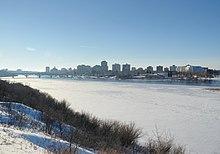 Panorama invernale di Saskatoon