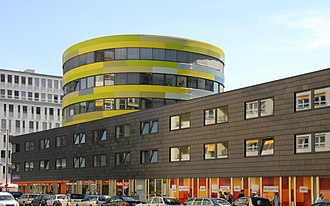 Sauerbruch Hutton - Part of Sauerbruch Hutton's extended and renovated GSW Headquarters building in Berlin