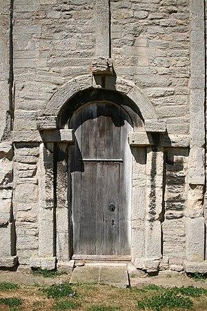 St John the Baptist's Church, Barnack - Image: Saxon doorway geograph.org.uk 204121