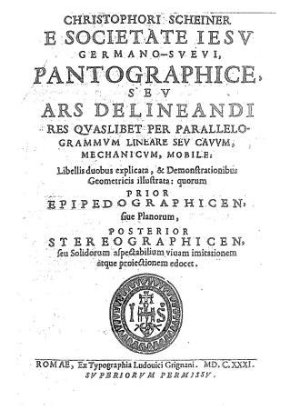 Christoph Scheiner - Pantographice, 1631