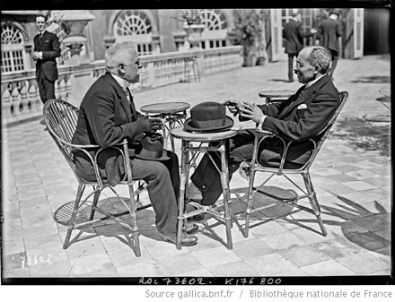 Chancellor Schober with the Dutch foreign minister, van Karnebeek at the 1922 Genoa Conference