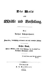 <i>The World as Will and Representation</i> book by Arthur Schopenhauer