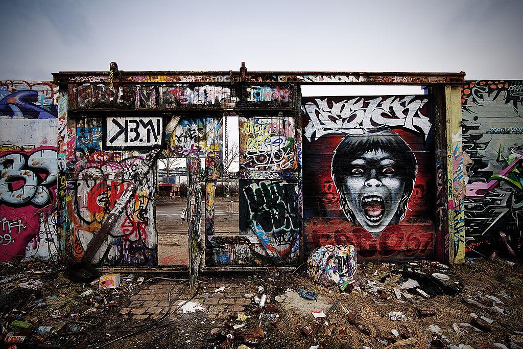 Street art : Scream! dans le quartier de Sydhavnen à Copenhague. Photo de Stig Nygaard