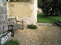 Seat in the churchyard at Our Lady, Warnford - geograph.org.uk - 1582238.jpg