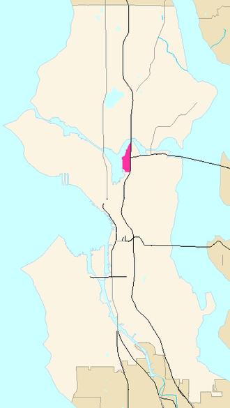 Eastlake, Seattle - Image: Seattle Map Eastlake
