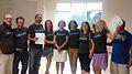Second Chance School of Corfu with Wikipedia t-shirts 02.jpg