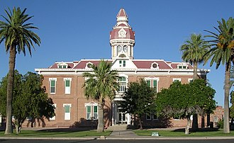 Pinal County, Arizona - Image: Second Pinal county courthouse