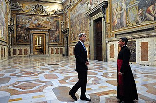 state hall in the Apostolic Palace, Vatican City.