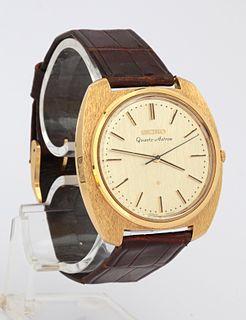 Astron (wristwatch) First quartz wristwatch in the world; made by Seiko in 1969