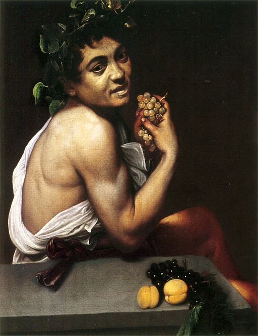 Self-portrait as the Sick Bacchus by Caravaggio