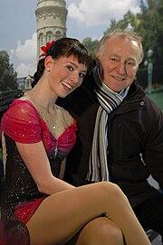 Senior ladies German Champion in Figure Skating 2010 Sarah Hecken Coach Peter Sczypa in Mannheim Deutsche Meisterschaften im Eiskunstlauf SAP Arena