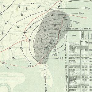 1894 Atlantic hurricane season - Image: September 27, 1894 hurricane 4 map
