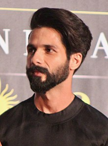 An upper body shot of Shahid Kapoor, looking away from the camera