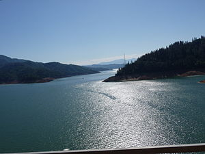 Lake Shasta from I-5