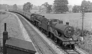 Somerset and Dorset Joint Railway - Near Shepton Mallet in 1959