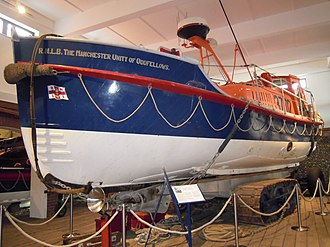 RNLB Manchester Unity of Oddfellows (ON 960) - Image: Sheringham Lifeboat The Manchester Unity of Oddfellows ON960 Sheringham Museum 29 03 2010 (1)