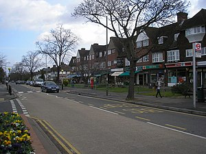 Hinchley Wood - Image: Shops, Manor Road North, Hinchley Wood geograph.org.uk 744121