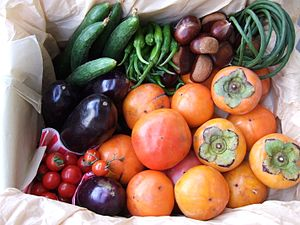 収穫の秋 Autumn Fruit and Vegetables in Japan