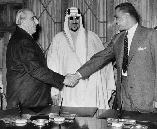 Shukri al-Quwatli et Nasser