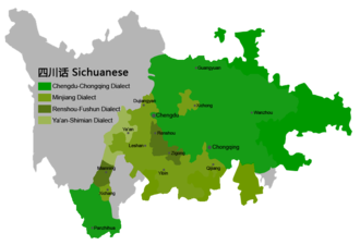 Southwestern Mandarin - Chengyu and Guanchi subgroups in Sichuan and Chongqing