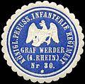 Siegelmarke Königlich Preussisches Infanterie Regiment Graf Werder (4. Rheinisches) Nr. 30 W0259962.jpg