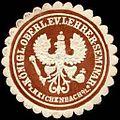 Siegelmarke Königlicher Oberlehrer - Evangelische Lehrer - Seminar - Reichenbach - Oberlausitz W0237292.jpg