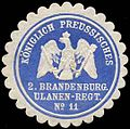 Siegelmarke K.Pr. 2. Brandenburgisches Ulanen-Regiment No. 11 W0288115.jpg