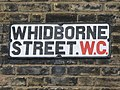 Sign for Whidborne Street, WC1 - geograph.org.uk - 1219780.jpg