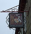 Sign for the Duke of Leeds public house, Leedstown (geograph 5462629).jpg