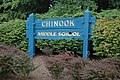 Sign from old Chinook Middle School, Bellevue, WA.JPG