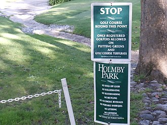 Holmby Park - Image: Signs in Holmby Park, Holmby Hills, Los Angeles, California