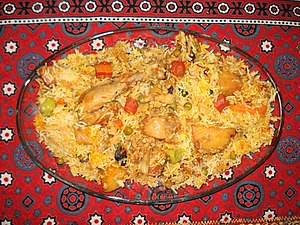 English: Sindhi Biryani is a delicious Dish of...