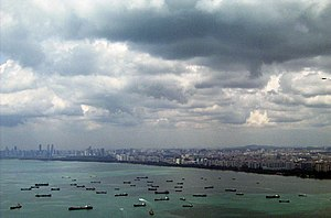 Sea - Seas are important for human development and trade, as at Singapore, the world's busiest entrepôt.