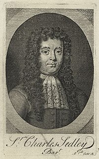 Sir Charles Sedley, 5th Baronet 17th-century English noble, dramatist, and politician