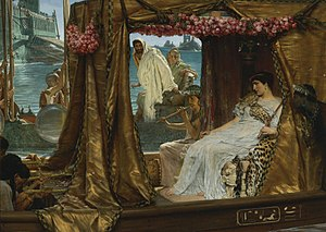 Antony and Cleopatra - The Meeting of Antony and Cleopatra, by Lawrence Alma-Tadema, 1884
