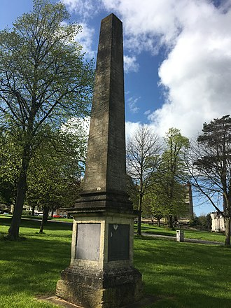 William Draper (British Army officer) - Image: Sir William Draper's Obelisk